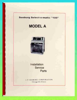 Seeburg A Jukebox Service Parts Manual
