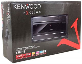 Kenwood X700 5 awesome 5 channel 700 watt subwoofer crossover