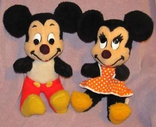 Disney character Mickey and Minnie Plush toys and Mickey Mouse game