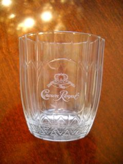 Crown Royal Logo Etched Whiskey Glass 3.75 Tall Vonpok Made in Italy