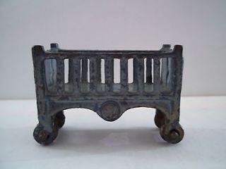Cast Iron Baby Crib Doll House Furniture Kilgore