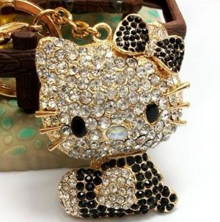 Kitty Cat Fashion Swarovski Crystal Charm Pendant Key Bag Chain Gift