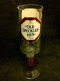 OLD SPECKLED HEN ALE / BEER GLASS GOBLET   100% RECYCLED  UNIQUE GIFT