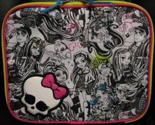 RELEASE MONSTER HIGH Doll SKULLETTE Insulated LUNCH BAG Tote School