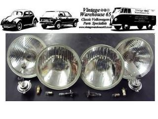 240c 5 & 3/4 Sealed Beam Halogen Conversion Main & Spot Headlight Kit