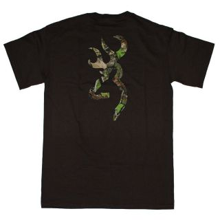 Chocolate Browning Camouflage Buckmark T Shirt   Logo Color Camo