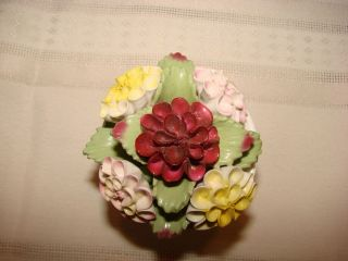 HAND PAINTED BONE CHINA FLOWER BOUQUET FROM ENGLAND DAHLIA SEPTEMBER