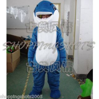 Dolphin whale Cartoon Mascot Costume Fancy Dress R00399 adult one size