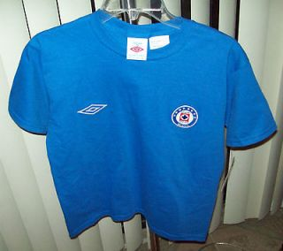 NWT UMBRO YOUTH BOYS CRUZ AZUL (SOCCER) T SHIRT COLOR ROYAL BLUE SIZE
