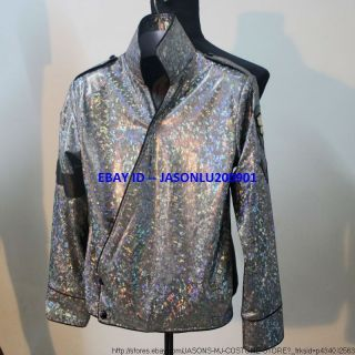 MORE SHINNING MICHAEL JACKSON DANGEROUS TOUR JAM JACKET MJ COSTUME