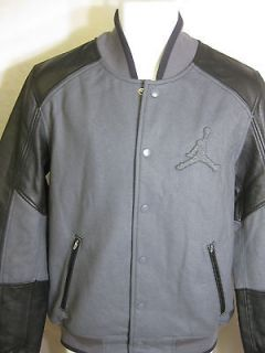 JORDAN MENS VIP LETTERMANS JACKET Dark Grey/Black  517915 021