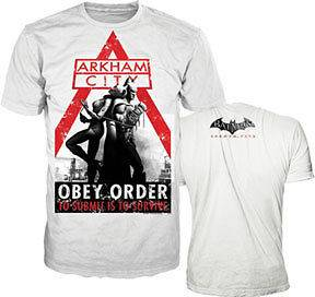 PS3 Xbox 360 Arkham City DC Comics Tee Batman Dark Knight Rises Game T