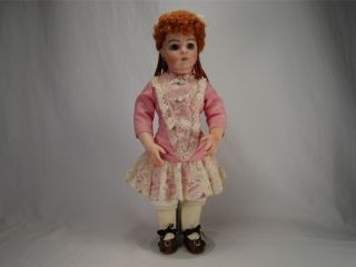 Vtg de Nunez Antique Bru Jne Reproduction Bisque Porcelain 15 Doll