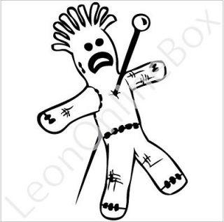 Voodoo Doll   Cartoon Decal Vinyl Car Wall Laptop Cellphone Sticker