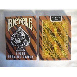 Rare Bicycle Tiger Deck Playing Cards  Tiger Skin Back Design Black