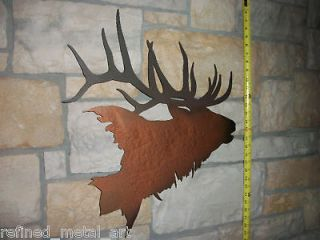 Quality Elk Head Wall Mount Decor Metal Art Life Like