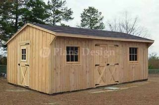 12 x 18 Garden Structures Saltbox Shed Plans #71218