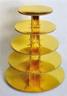 Cup Cake Stand Gold 5 Tier Wedding Party Dessert
