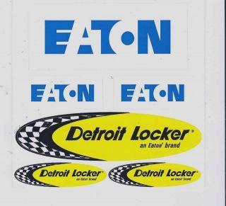 Detroit Locker Eaton Racing Decals Sticker Sheet of 6 New