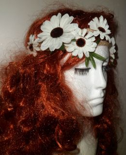 VINTAGE STYLE SUNFLOWER / DAISY HEADBAND GARLAND FLOWER CROWN BOHO