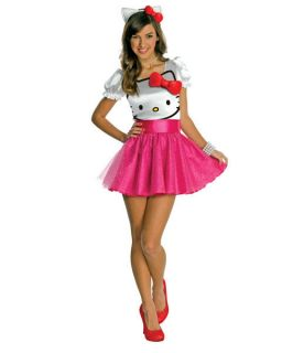 Teen Hello Kitty Tutu Dress Girls Halloween Costume