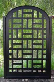 GATE ON SALE CONTEMPORARY DISCOUNT CUSTOM CUT ART MODERN IRON GARDEN