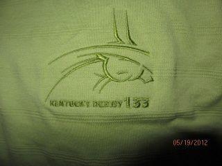 XL Greg Norman 2007 Kentucky Derby 133 Green Golf Polo Shirt Queen
