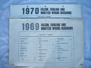 1969 Ford Falcon, Fairlane, and Montego Wiring Diagrams