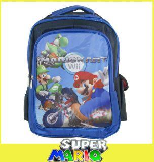 16 Super Mario Bros Kart Wii YOSHI LUIGI Backpack School Book Bag