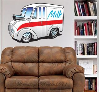 Divco Milk Delivery Truck WALL GRAPHIC FAT DECAL MAN CAVE MURAL PRINT