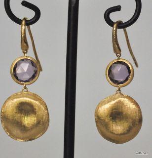 New $1320 MARCO BICEGO 18K Gold Amethyst Drop Wire Earrings SALE