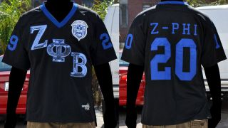 Zeta Phi Beta Short Sleeve Football Jersey S 3XL Z PHI B Black Zeta