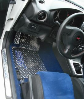 STI 02 07 Aluminum diamond plate floor mats. front and rear Real