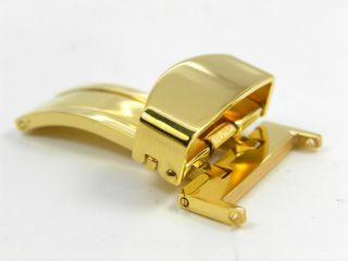 Gold Plated Butterfly Fold Deployment Watch BAND Clasp Buckle K18 G