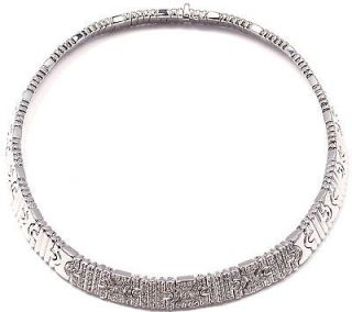 AUTHENTIC BULGARI BVLGARI PARENTESI 18K WHITE GOLD DIAMOND NECKLACE