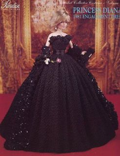 Princess Diana 1981 Engagement Dress Paradise #48 Barbie Doll Crochet