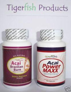 ACAI BERRY POWER MAX FORCE & BURN diet slim fat pills