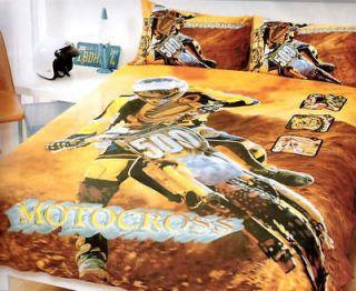 MOTOCROSS MOTORCYCLE DIRT BIKE~Queen Quilt Cover Set