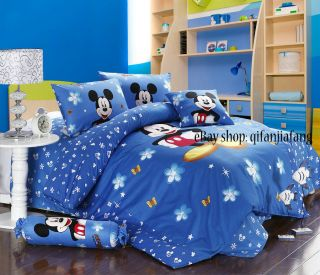 STUNNING DISNEY MICKEY MOUSE FULL 8PC COMFORTER IN A BAG (Highly