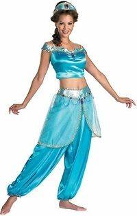Adult Disney Princess Jasmine Aladdin Halloween Costume (Size: Large