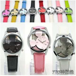 New Mens Womens Disney WatchMickey Mouse Quartz Wrist Watch8