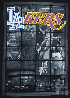 Magic Johnson LA LAKERS DODGERS T shirt Los Angeles Sports Tee Adult M