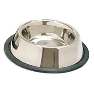Tip NON SLIP CAT DOG WATER DISH STAINLESS STEEL Pet BOWL large (16 OZ