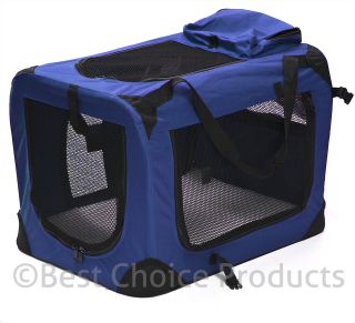 24 Pet Dog Carrier Travel Bag Crate Cat Tote Cage Folding Kennel W