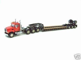 Mack Granite/Rogers 4 Axle Flip Lowboy   Red / Black. Discontinued
