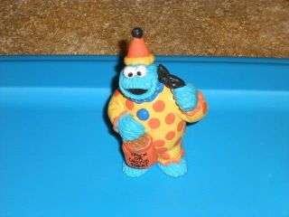 Cookie Monster PVC Toy Figure Applause Sesame Street Cake Topper