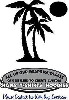 Sun Moon Decal Sticker Vinyl 4 Laptop Window Boat Wall Car Mailbox RV