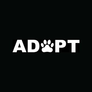 ADOPT Sticker Dog Cat Window Paw Print Pet Rescue Puppy