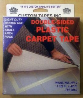 Custom Carpet Tape Plastic Double Sided 1.5x42 White