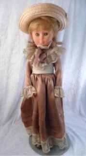 Vintage Zanini Zambelli Italian 17 Doll w/ Stand, Sleepy Eyes, Lace